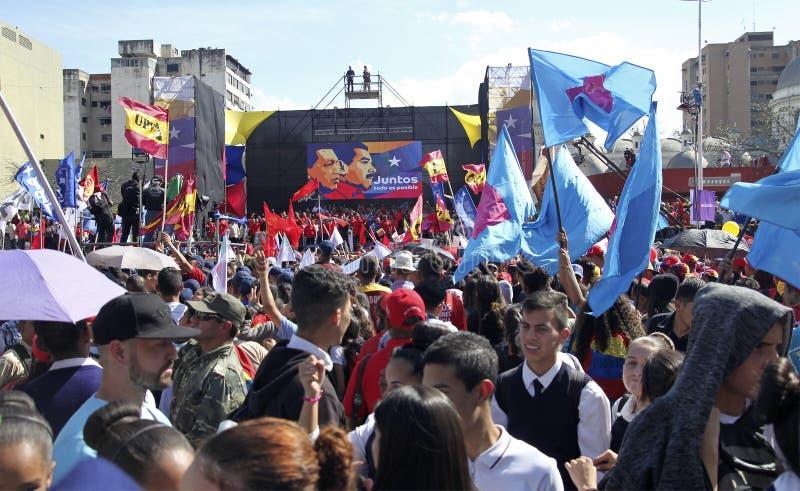 Nicolas Maduro som registrerar som kandidaten för presidentval i Venezuela royaltyfri bild