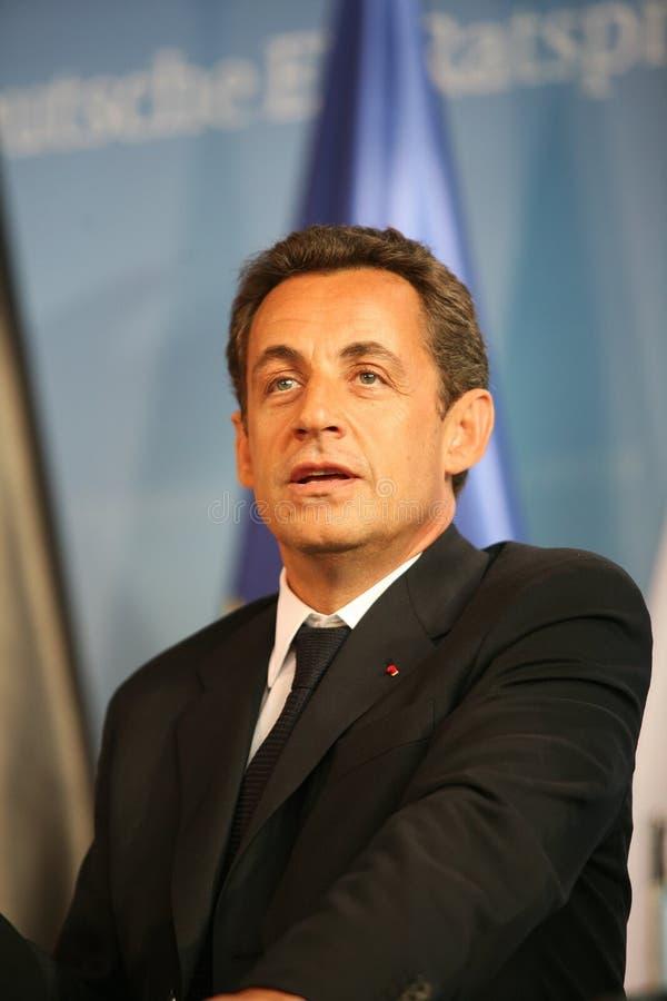 Nicolas Sarkozy royalty-vrije stock foto