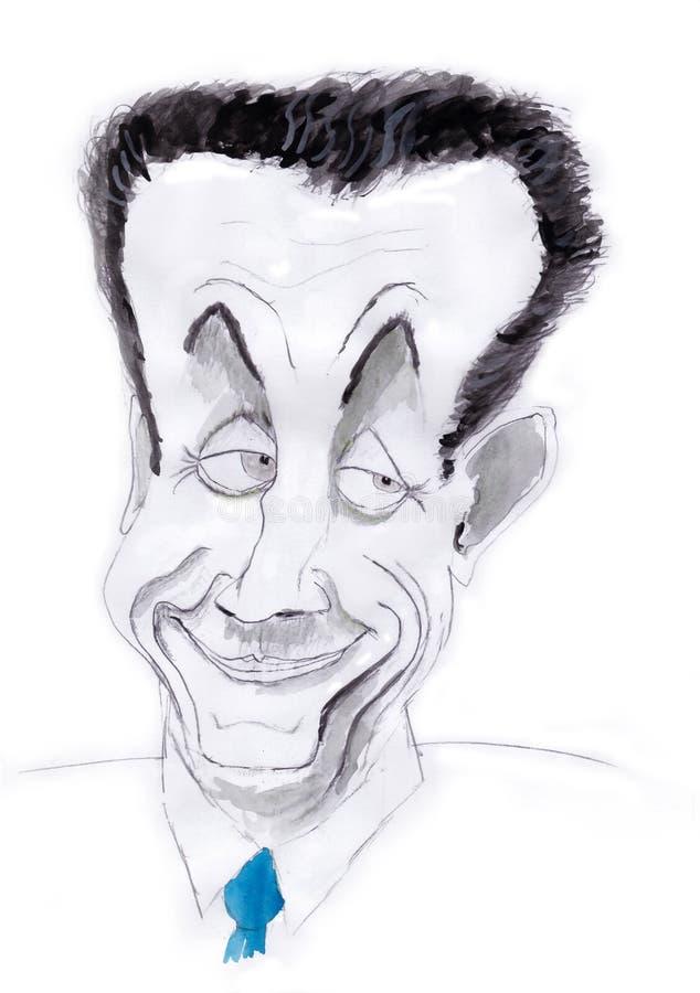 Nicolas Sarkozy lizenzfreie abbildung