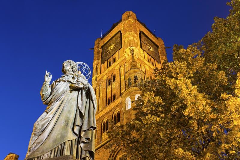 Nicolaus Copernicus Monument, Torun, Polônia fotografia de stock