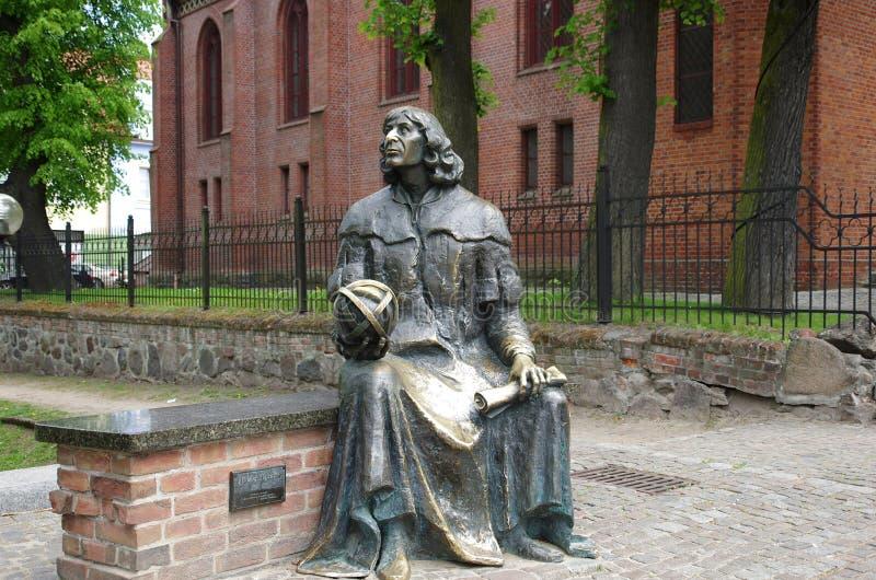 Nicolaus Copernicus-standbeeld royalty-vrije stock fotografie