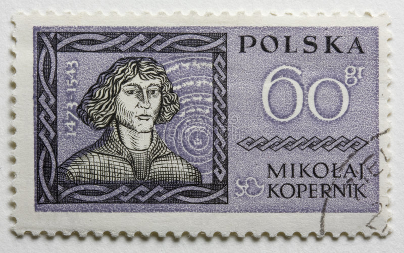 Nicolaus Copernicus on a vintage post stamp royalty free stock photos