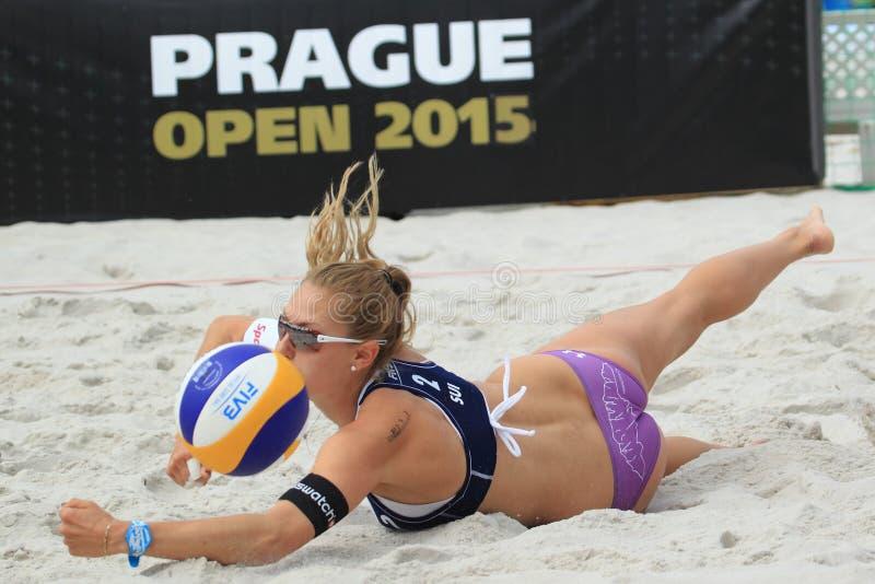 Nicole Eiholzer - Strandvolleyball stockfoto