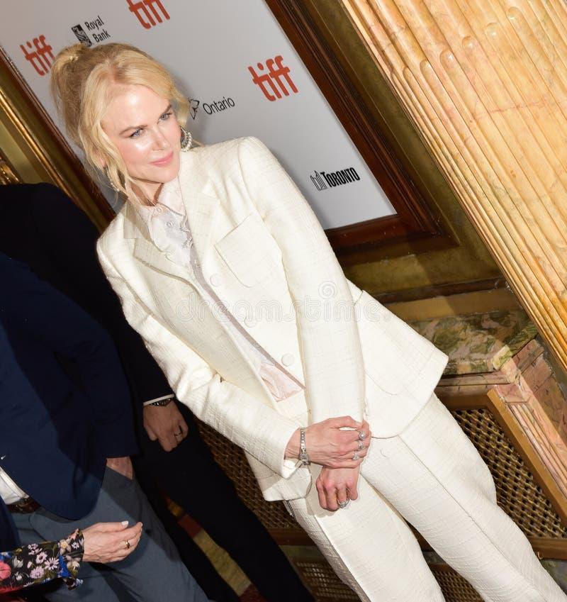 Nicole Kidman bij de filmpremière van `-Torpedojager ` bij Internationaal de Filmfestival 2018 van Toronto stock foto's
