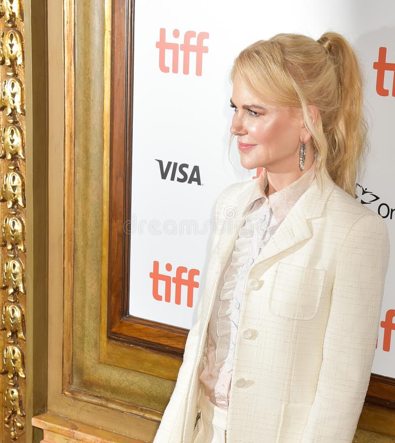 Nicole Kidman bij de filmpremière van `-Torpedojager ` bij Internationaal de Filmfestival 2018 van Toronto stock afbeeldingen