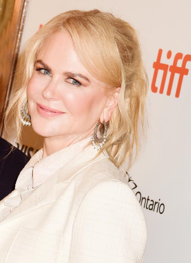 Nicole Kidman at the film premiere of `Destroyer` at Toronto International Film Festival 2018. Actress Nicole Kidman at the film premiere of `Destroyer` at royalty free stock photos