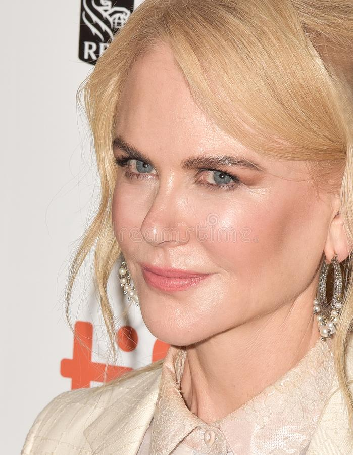 Nicole Kidman at the film premiere of `Destroyer` at Toronto International Film Festival 2018. Actress Nicole Kidman at the film premiere of `Destroyer` at stock photography