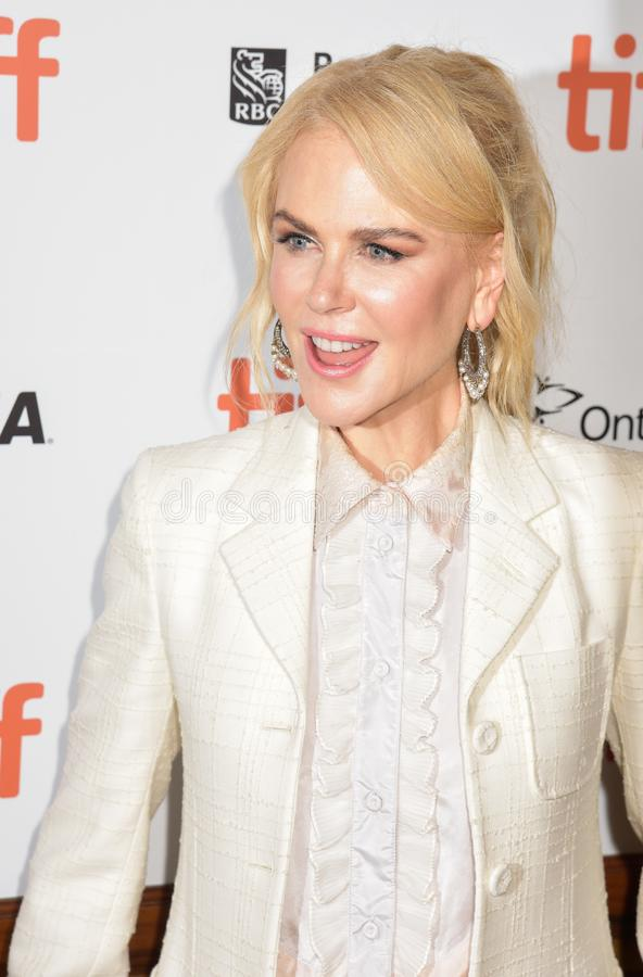 Nicole Kidman at the film premiere of `Destroyer` at Toronto International Film Festival 2018. Actress Nicole Kidman at the film premiere of `Destroyer` at royalty free stock photography