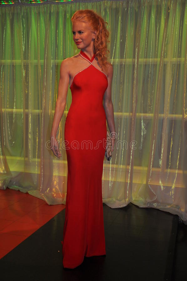Nicole Kidman wax statue royalty free stock photos