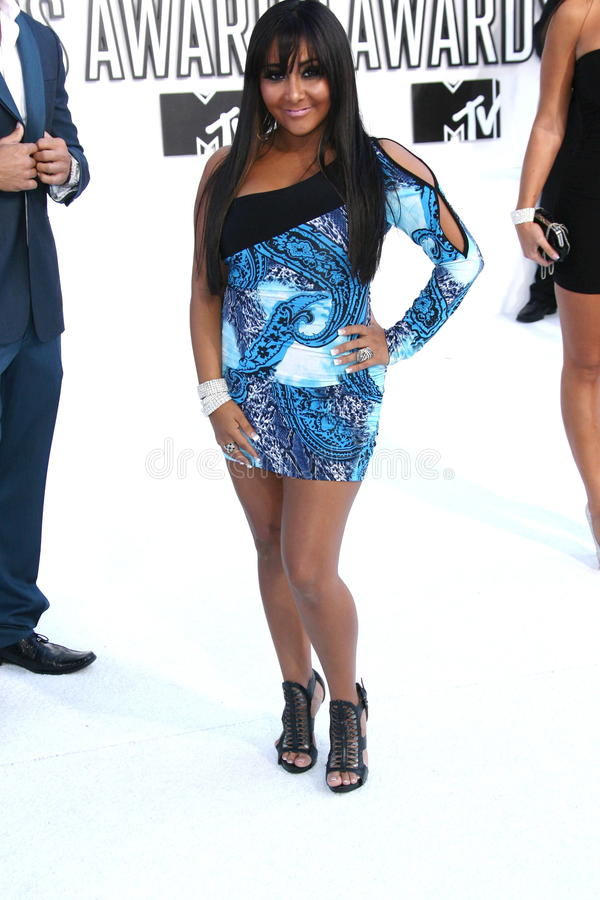 Nicole Polizzii at the 2010 MTV Video Music Awards, Nokia Theatre L.A. LIVE, Los Angeles, CA. 08-12-10