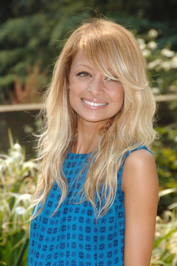 Nicole Richie. Actress NICOLE RICHIE at luncheon given by Estee Lauder to launch their new perfume pleasures by Gwyneth Paltrow at the Greystone Estate in stock photo