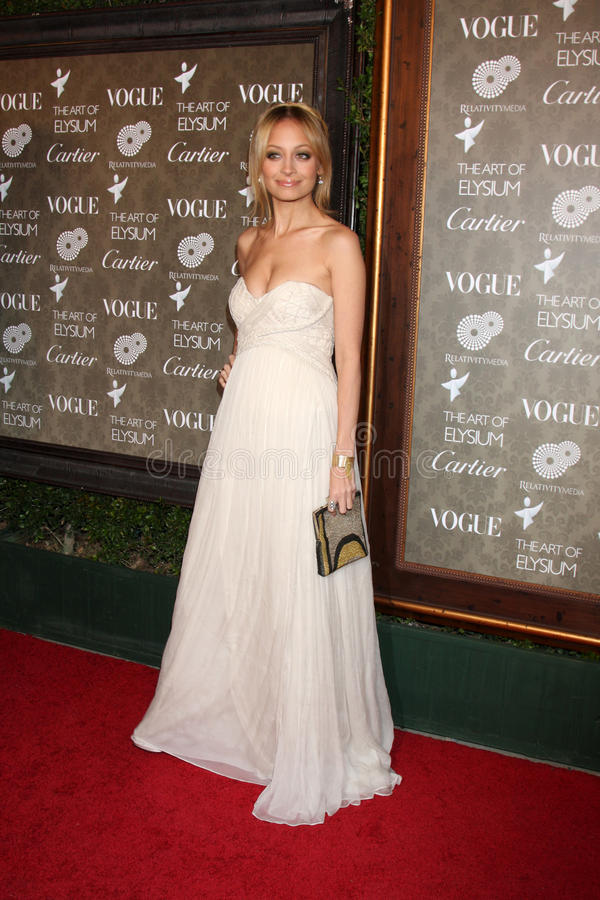 Nicole Richie. Arriving at 'The Art of Elysium 2nd Annual Black Tie Charity Gala' at Vibiana in Los Angeles, CA on January 10, 2009 stock image