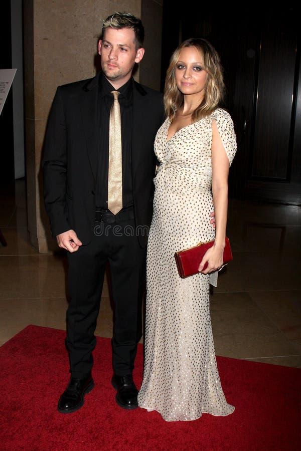 Nicole Richie, Joel Madden stock fotografie