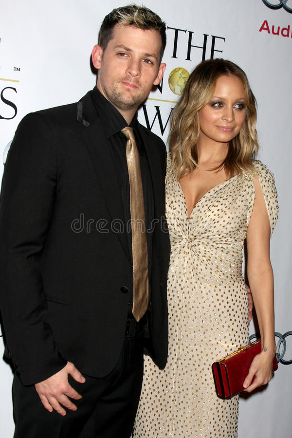 Nicole Richie, Joel Madden royalty-vrije stock foto