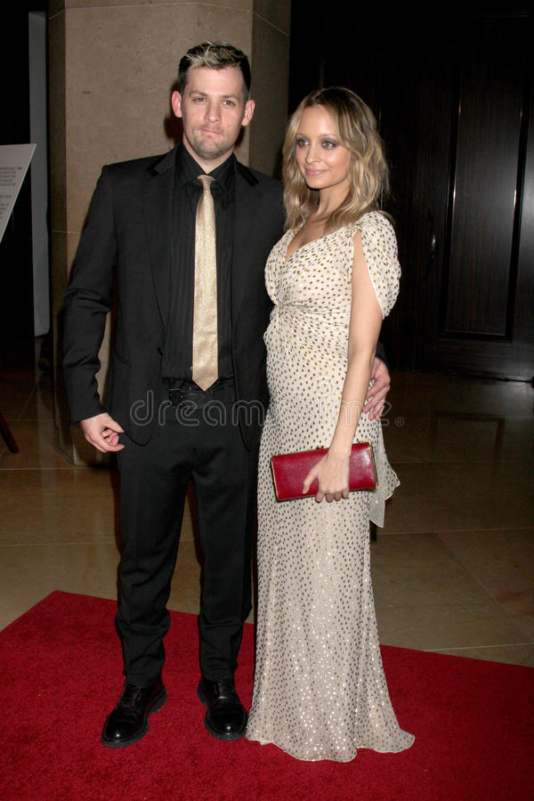 Nicole Richie,Joel Madden stock photos