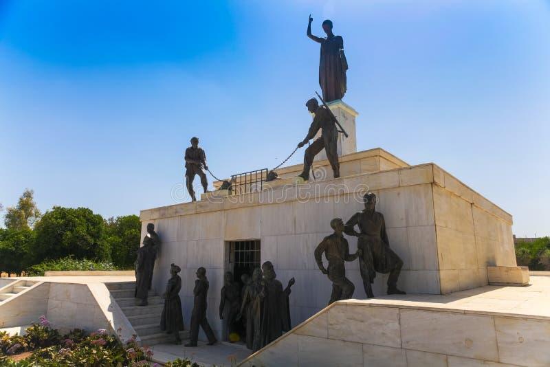 NICOSIA, CHIPRE - 30 DE MAIO DE 2014: A vista em Liberty Monument é um monumento na cidade de Nicosia em Chipre foto de stock royalty free