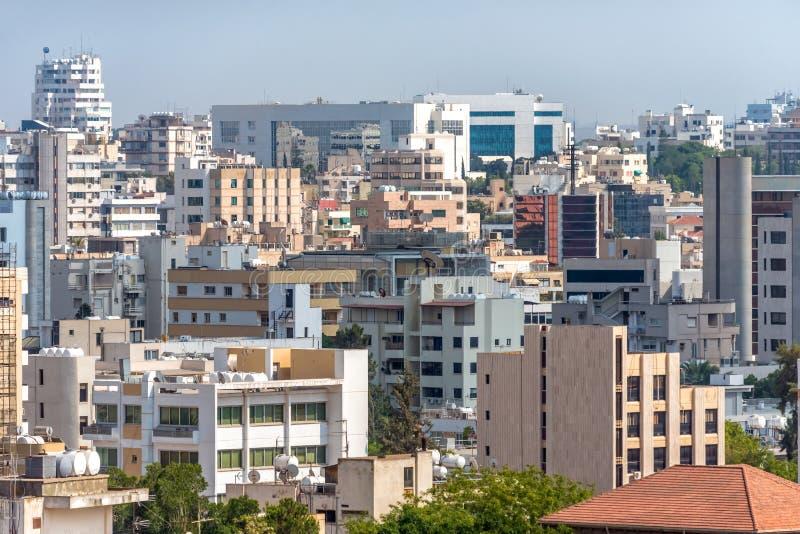 Nicosia citysacpe. Southern part of the capital. Cyprus.  royalty free stock photos