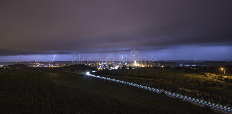 Nicosia Thunderstorm royalty free stock images