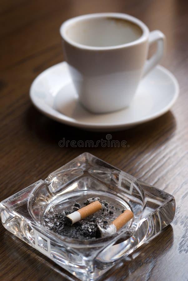 Nicotina y cafeína. foto de archivo libre de regalías