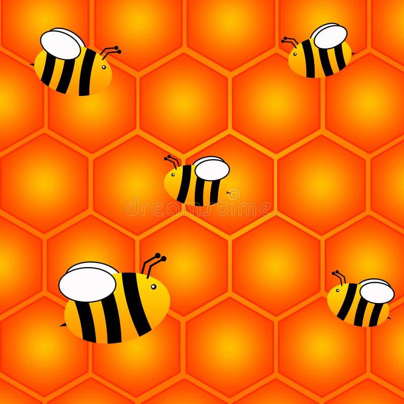 Nid d'abeilles illustration de vecteur