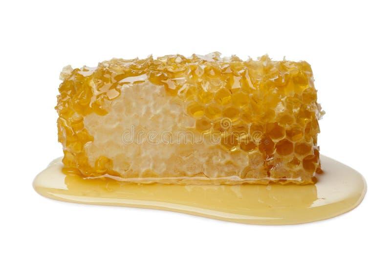Nid d'abeilles et miel photo stock