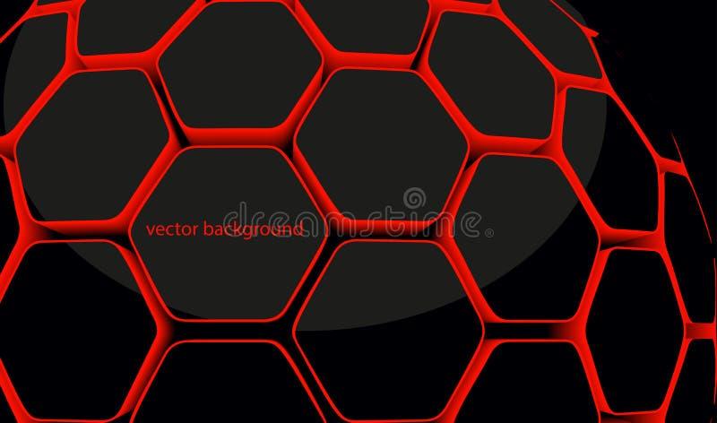 nid d'abeilles hexagonal 3d illustration de vecteur