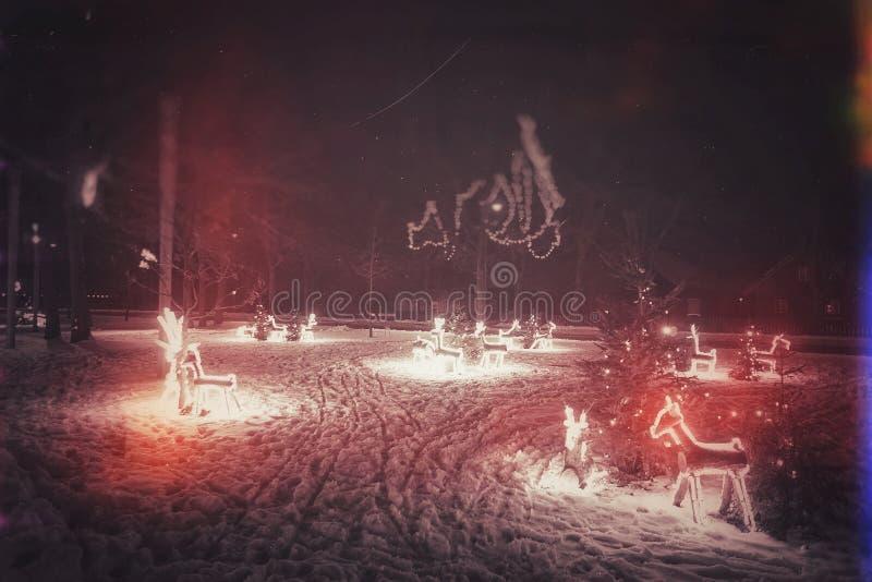 Nida City in Lituania, nel periodo di Natale fotografia stock libera da diritti