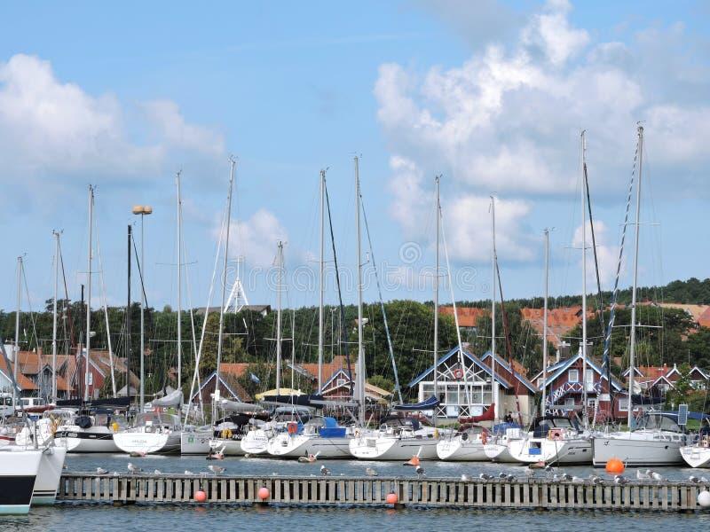 Nida City Marina, Lituânia imagem de stock