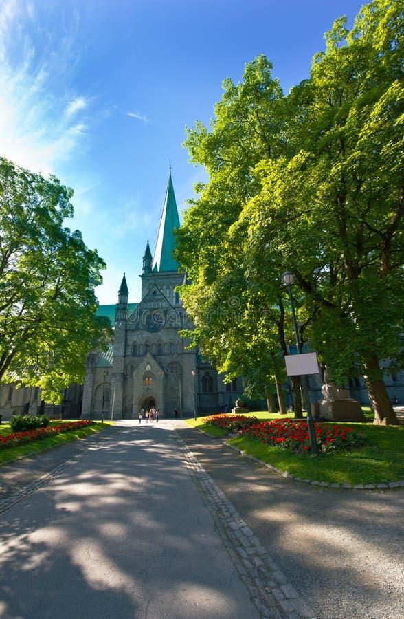 The Nidaros Cathedral in Trondheim ,Norway. Nidaros Cathedral in Trondheim. Norway royalty free stock photo