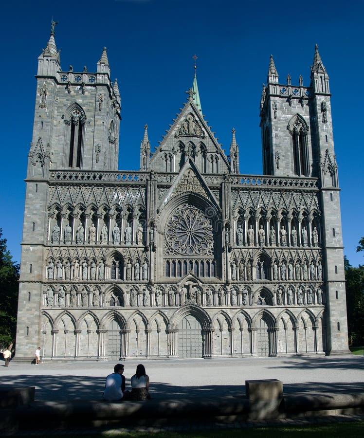 nidaros trondheim собора стоковые фото