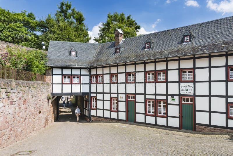 Nideggen Grodowa Zewnętrzna brama w Niemcy, artykuł wstępny zdjęcia royalty free