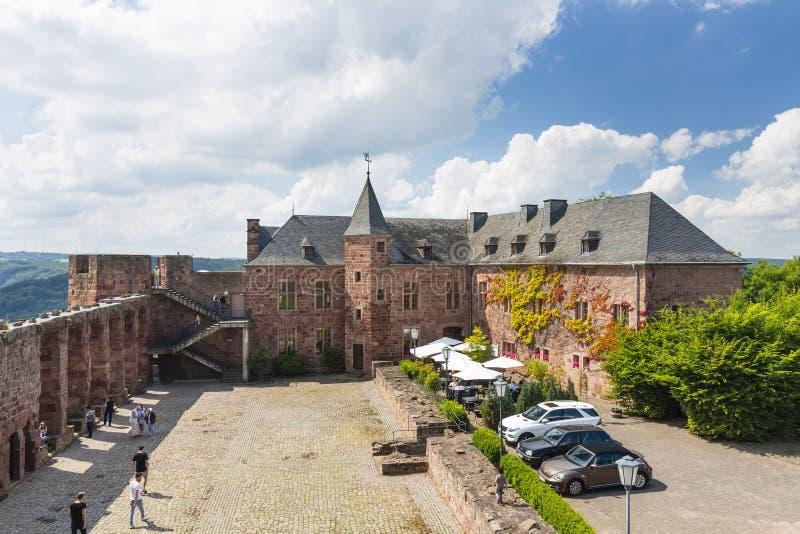 Nideggen kasztelu sąd w Niemcy, artykuł wstępny obrazy royalty free