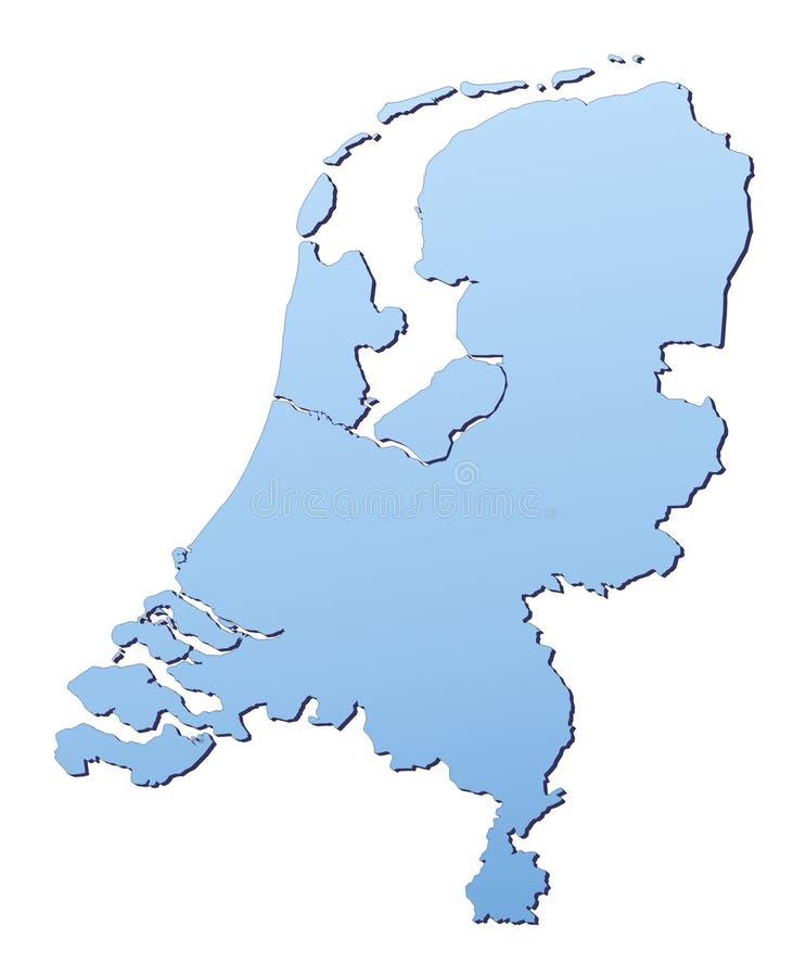 niderlandy map ilustracja wektor