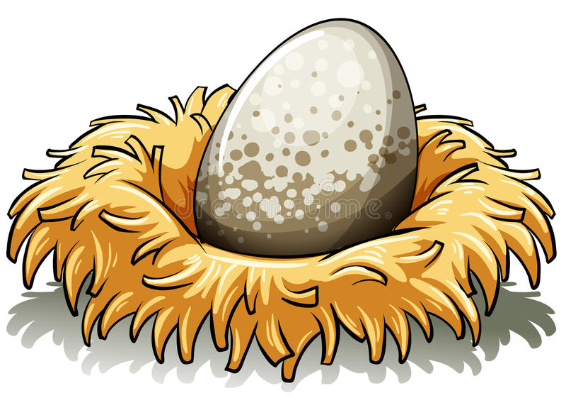 Nido con un uovo illustrazione di stock