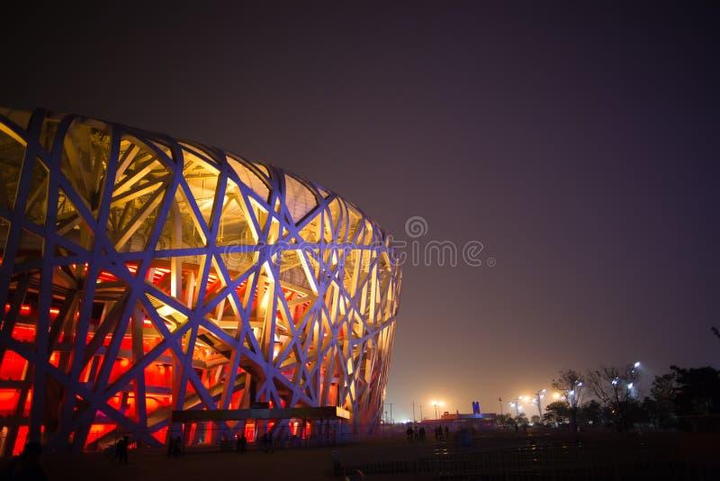 NIDO DELL'UCCELLO (STADIO NAZIONALE DI PECHINO) immagini stock