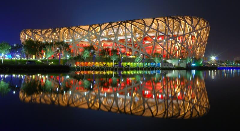 Nido dell'uccello (stadio nazionale di Pechino) immagine stock