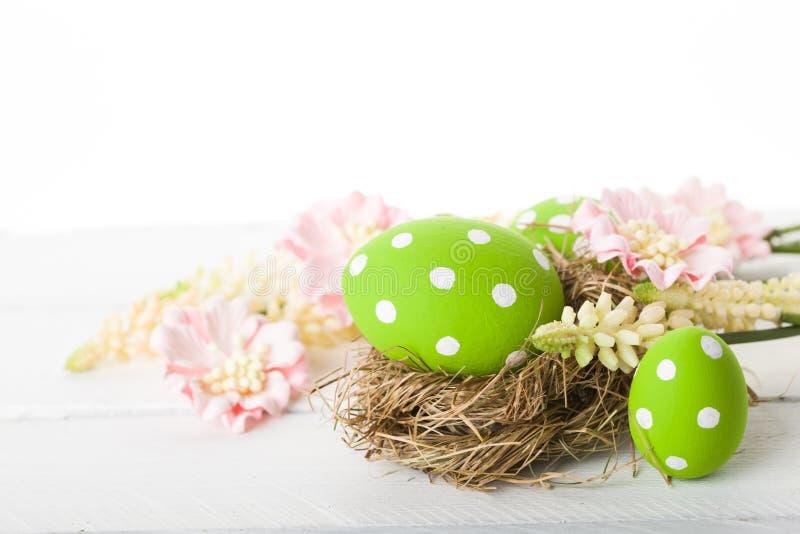Nido di Pasqua fotografie stock