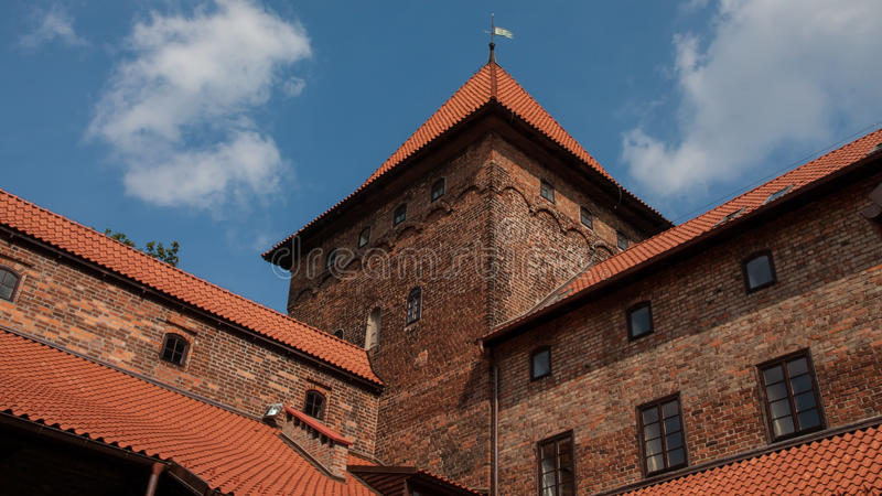 Nidzica Castle in Poland. Brick Castle in Nidzica in Poland royalty free stock image
