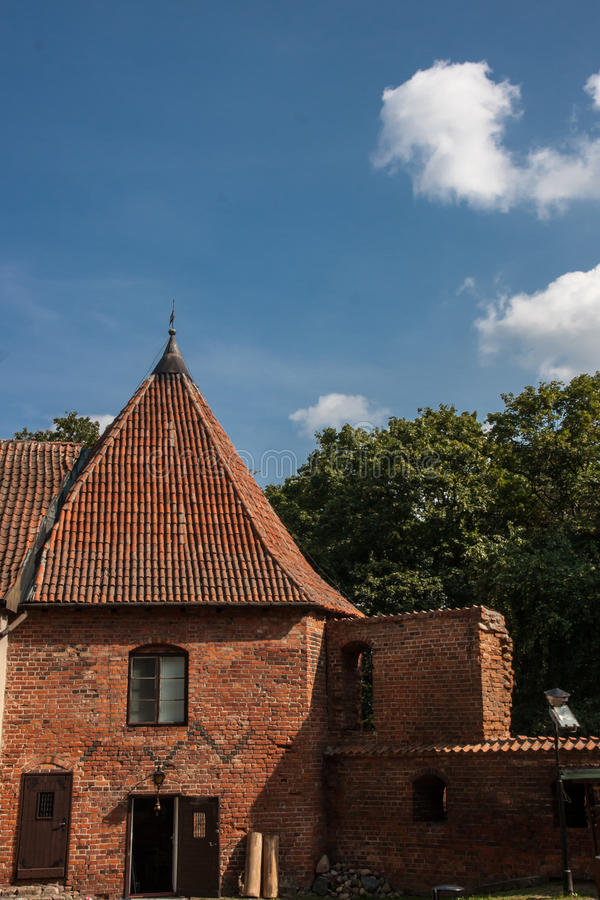 Nidzica Castle in Poland. Brick Castle in Nidzica in Poland royalty free stock photos