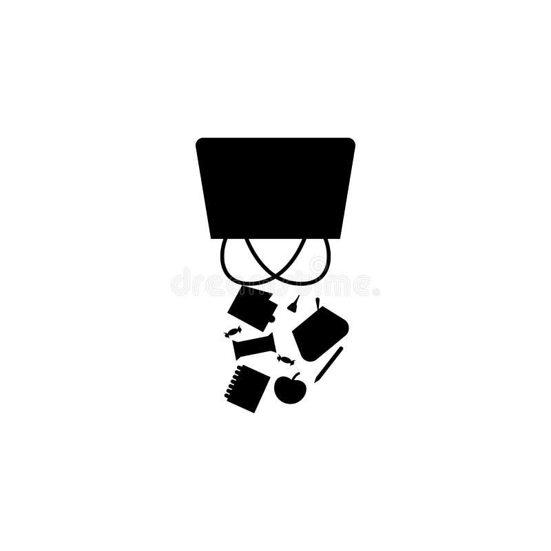 Nieład w kobiety bagï ¿ ½ ikonie royalty ilustracja