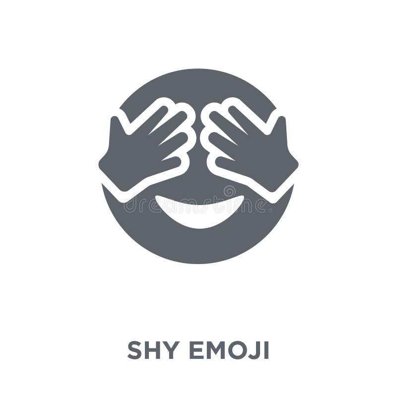 Nieśmiała emoji ikona od Emoji kolekcji ilustracji