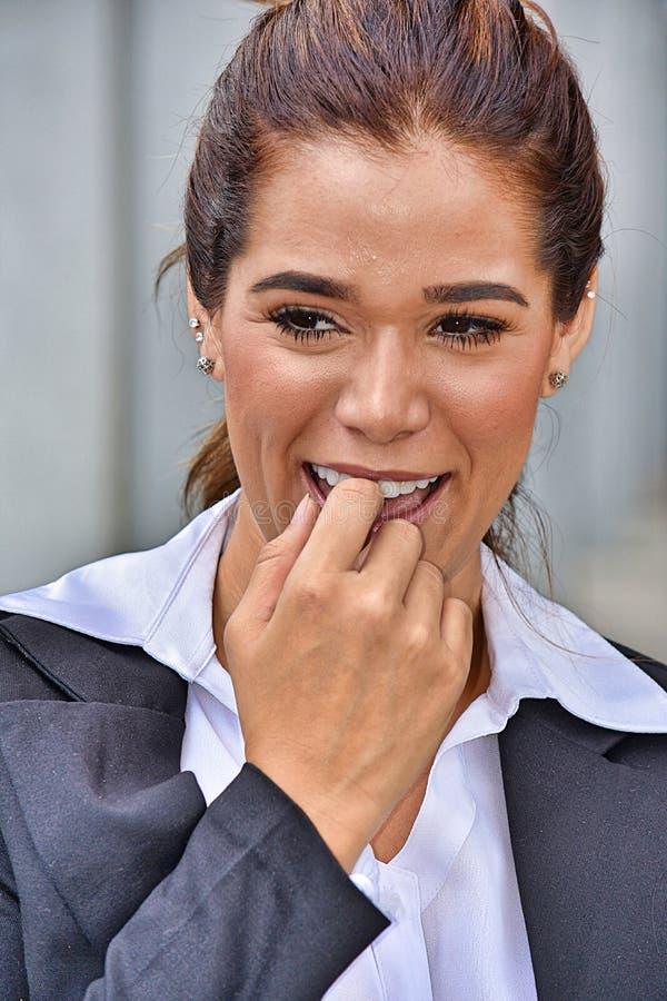 nieśmiała kobieta interesu zdjęcia royalty free