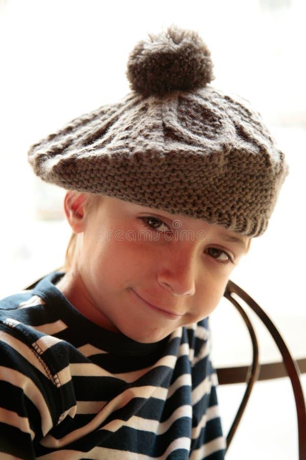 nieśmiały chłopiec portret zdjęcia royalty free