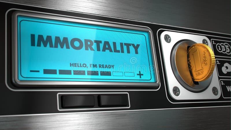 Nieśmiertelność w pokazie na automacie obrazy stock