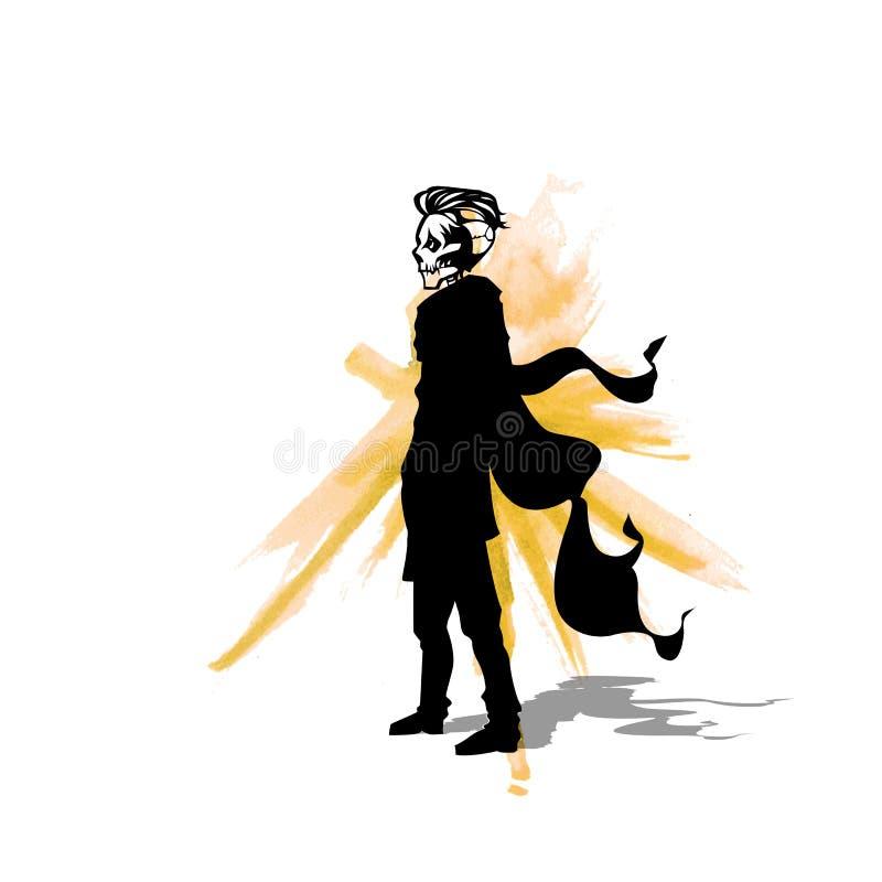 Nieżywa mężczyzna loga wektoru ilustracja ilustracji