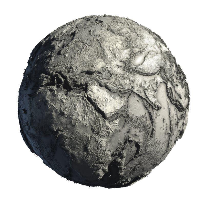 nieżywa ziemska planeta ilustracja wektor