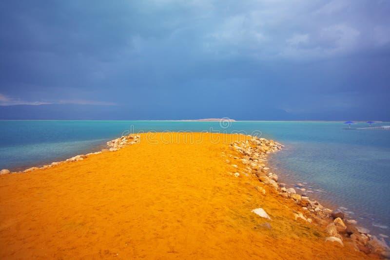 nieżywego morza burza obraz royalty free