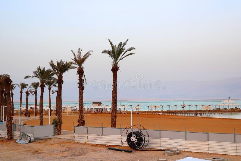 Nieżywego morza kurort w wieczór, Ein Bokek, Nieżywy morze, Izrael obraz stock