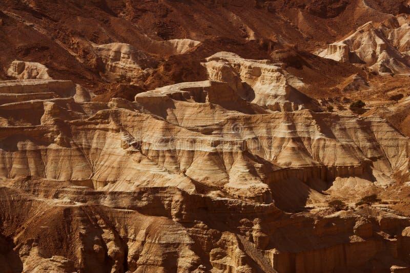 Nieżywego morza widok antyczny miasto Masada fotografia royalty free