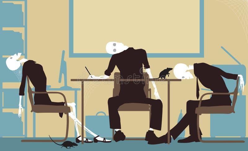 Nieżywy biznes ilustracja wektor